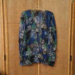 Lane Bryant Blue Green Blouse Pretty Size 18/20
